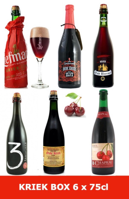 Kriek Box 6 x 75cl contains 6 bottles of beer brewed with fresh cherries