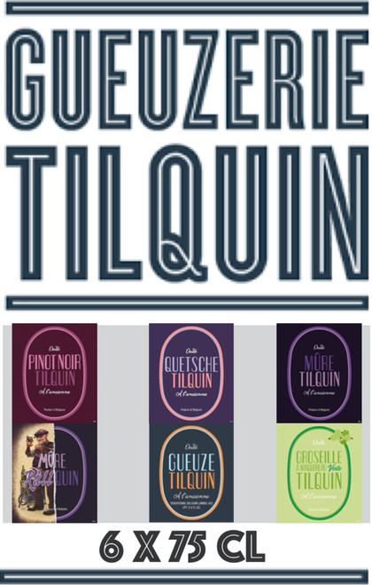 Tilquin 6 x 75cl includes 6 different Tilquin beers