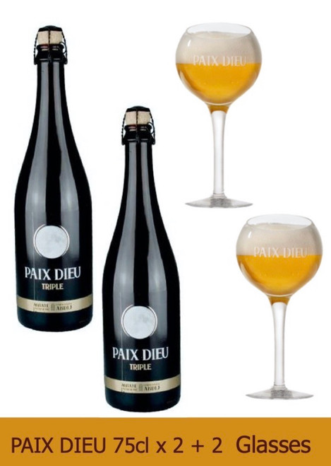 Paix Dieu Box contains 2 x Paix Dieu 75cl and 2 glasses