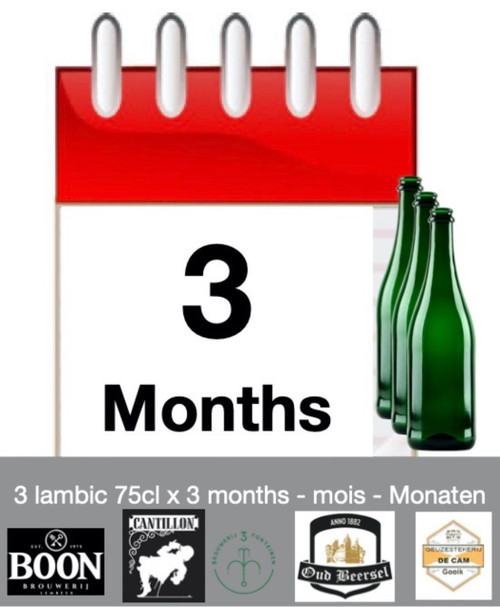 Lambic subscription of 3 months: discover 3 lambic each month during 3 months.