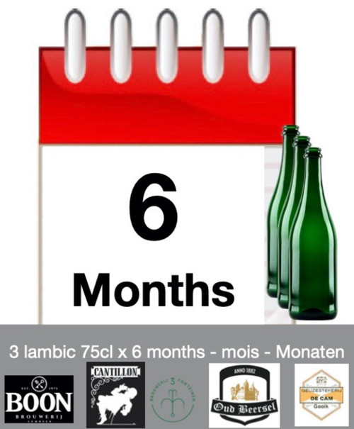 Lambic subscription of 6 months: discover 3 lambic each month during 6 months.