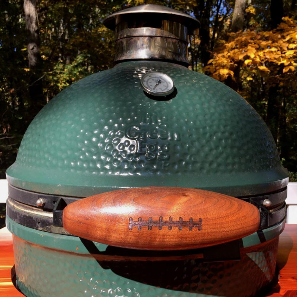 Black Walnut Football Handle for Big Green Egg