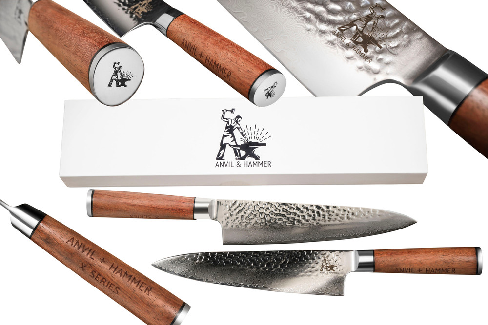 Anvil and hammer knives
