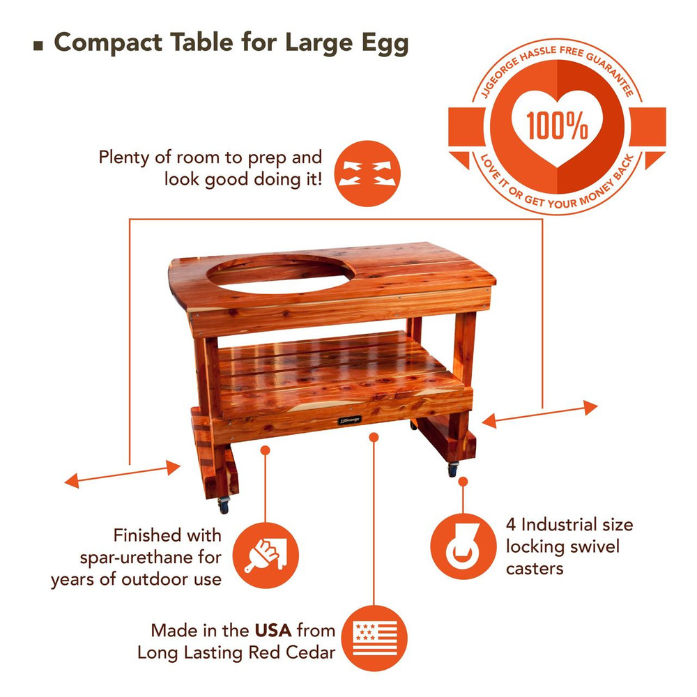 Short Big Green Egg Table