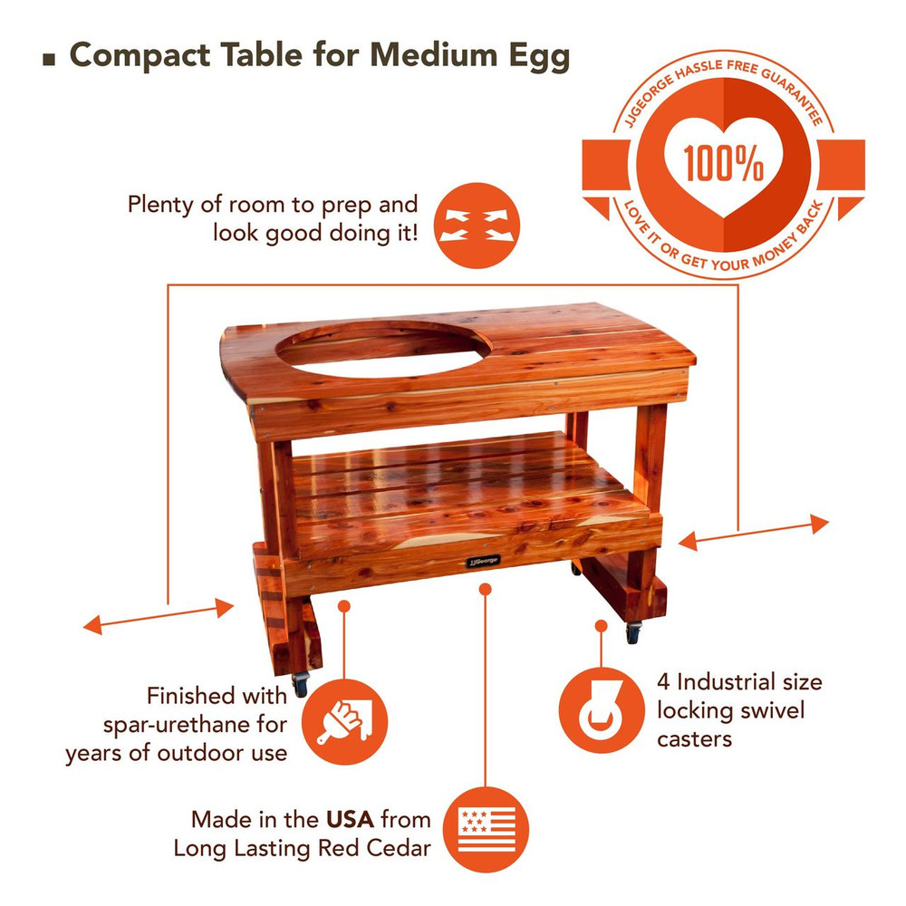 Compact Table for Medium Big Green Egg