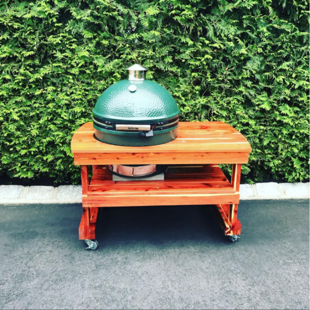 Extra Large Big Green Egg Table Xl Big Green Egg Table