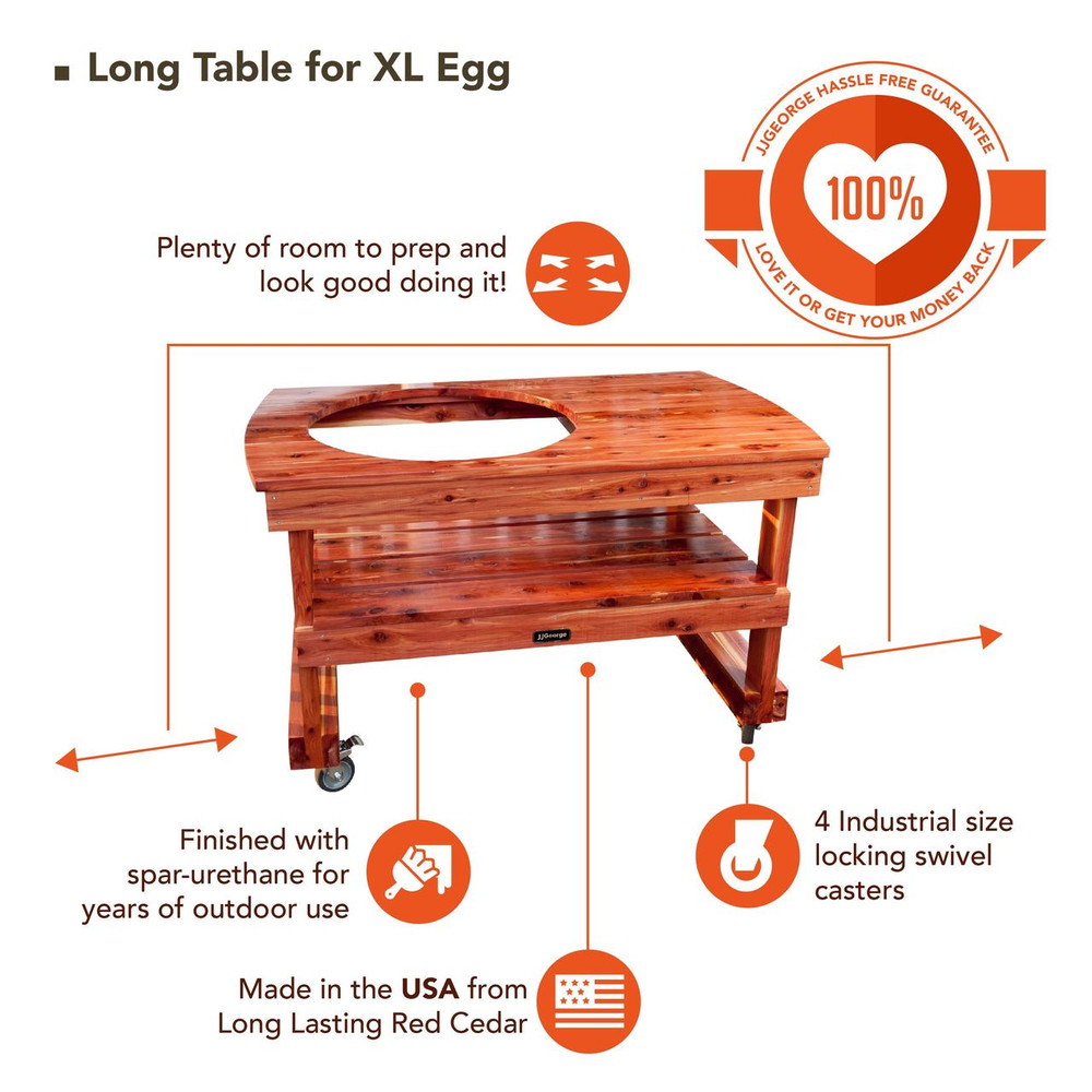 Best XL Big Green Egg Table
