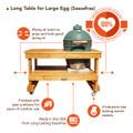 Sassafras Big Green Egg Table