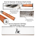 Anvil and hammer high quality 8 inch chefs knife