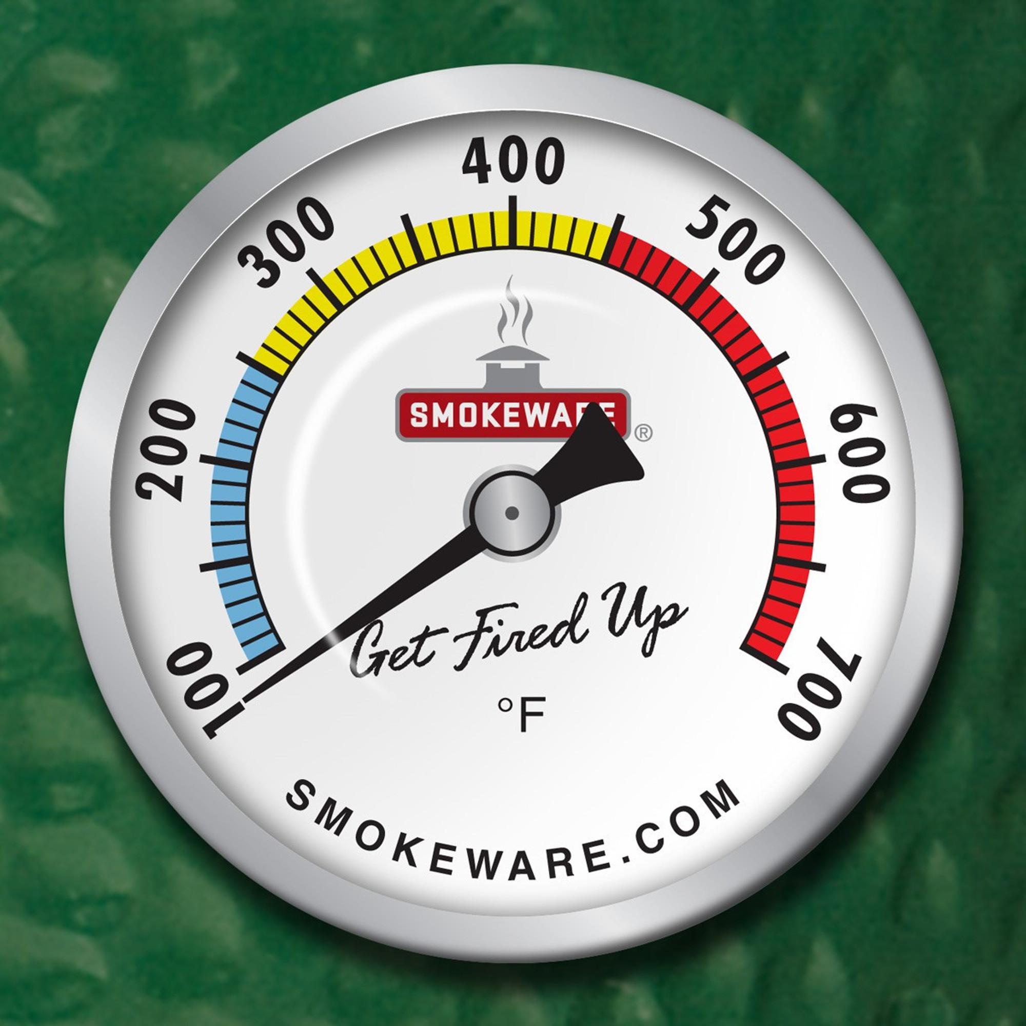 Gauge for BGE SmokeWare Multi-Colored Black Temp