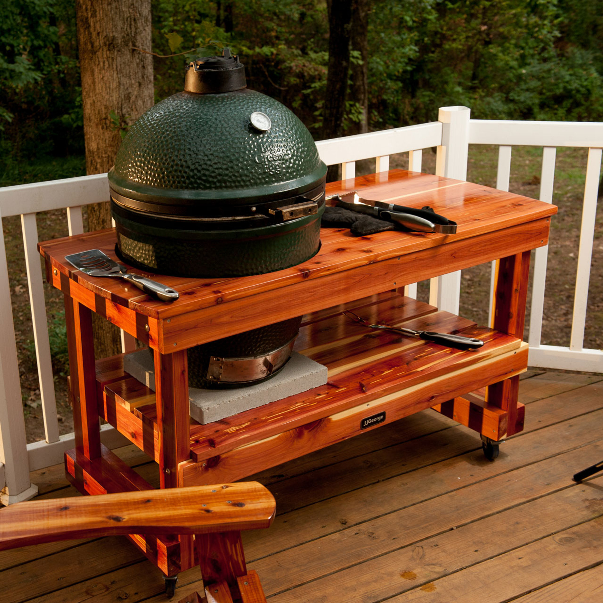 Surprising Long Table For Large Big Green Egg Interior Design Ideas Clesiryabchikinfo