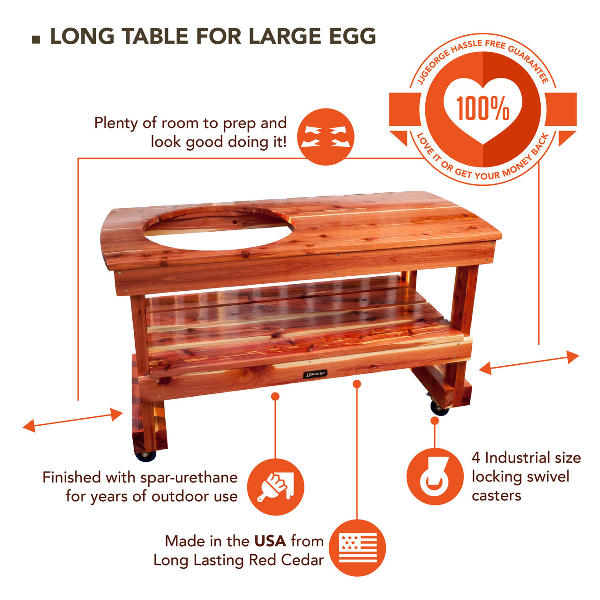 Pleasant Long Table For Large Big Green Egg Beutiful Home Inspiration Truamahrainfo