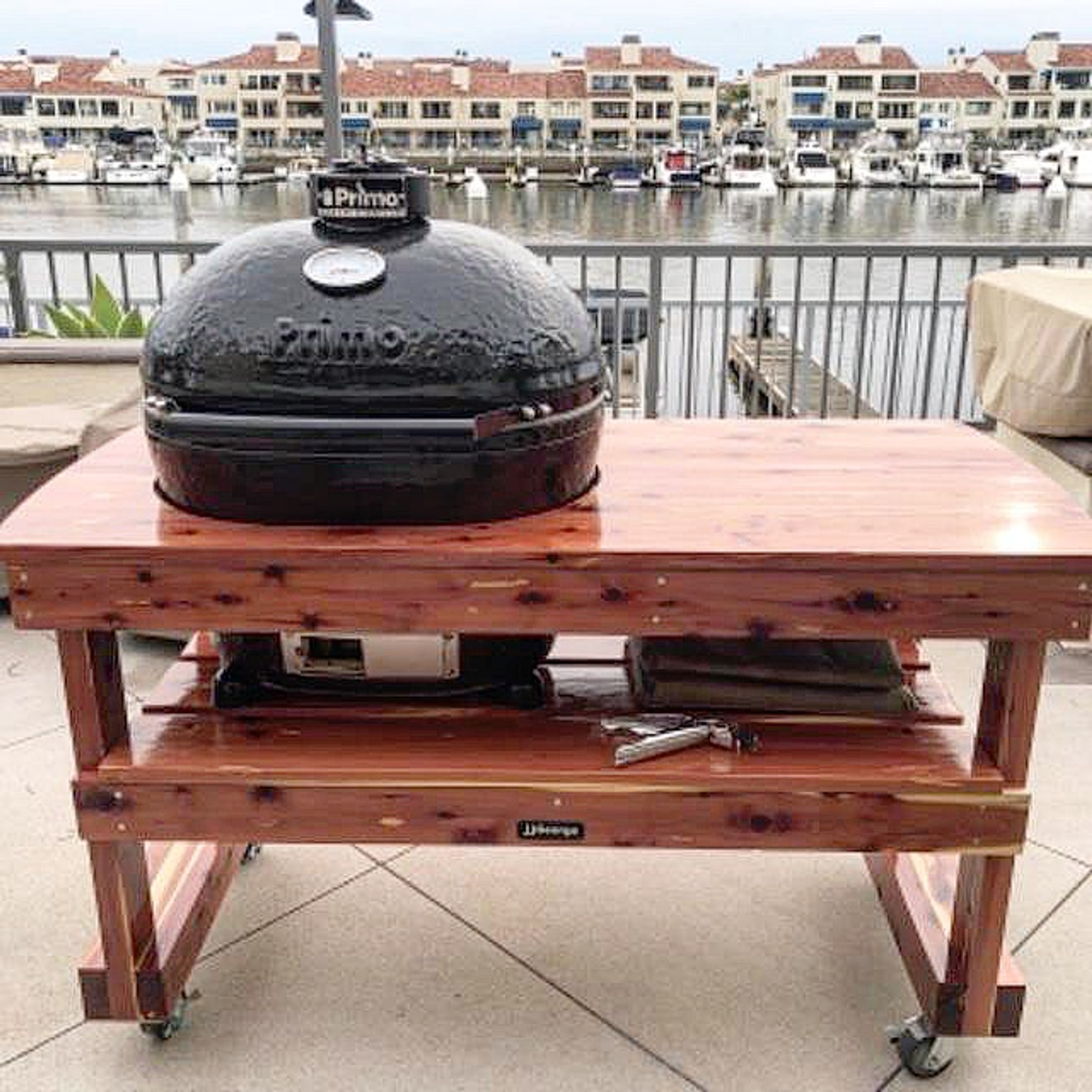 Primo Large Oval Table Primo Grill Table Jjgeorge