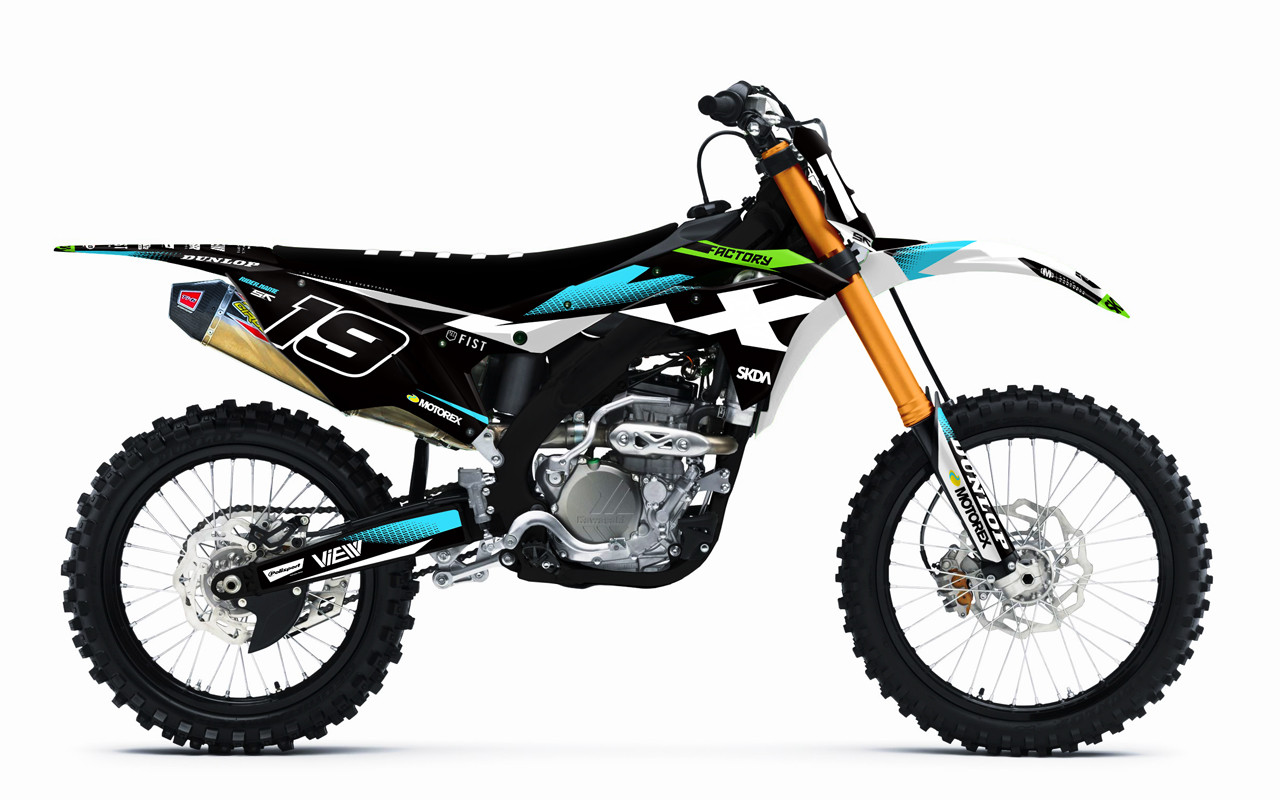 Kawasaki Kxf Graphics Kit By Sk Designs Australia
