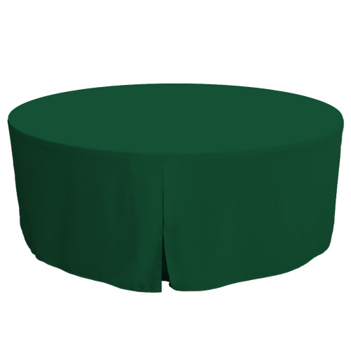 72-Inch Fitted Round Table Cover - Pine