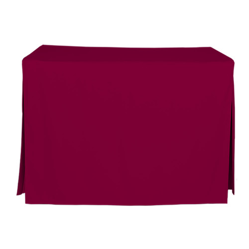 4-Foot Fitted Table Cover - Garnet