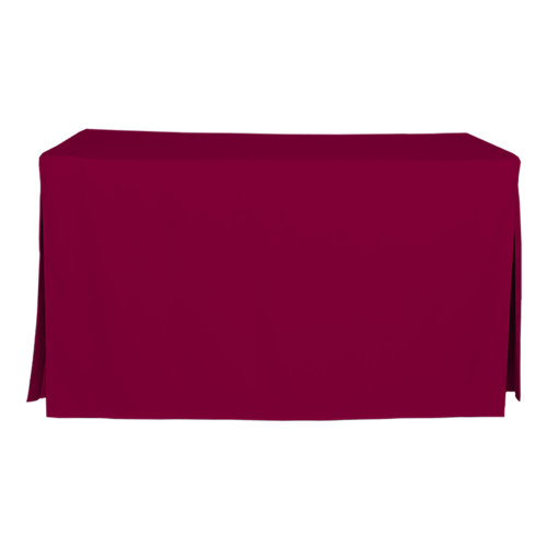 5-Foot Fitted Table Cover - Garnet
