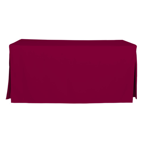 6-Foot Fitted Table Cover - Garnet