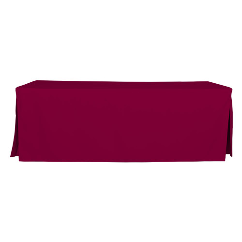 8-Foot Fitted Table Cover - Garnet