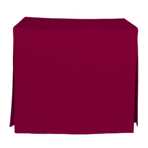 34-Inch Fitted Table Cover - Garnet