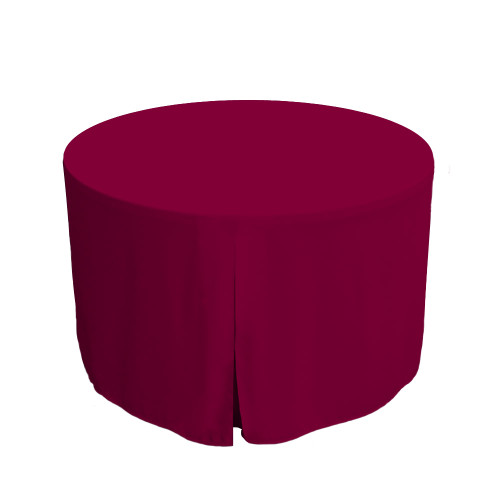 48-Inch Fitted Round Table Cover - Garnet