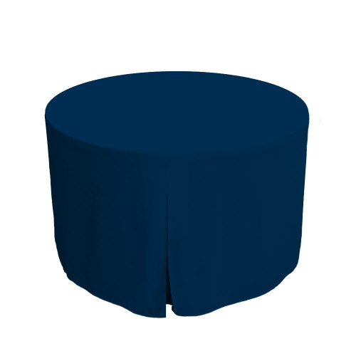 48-Inch Fitted Round Table Cover - Sapphire