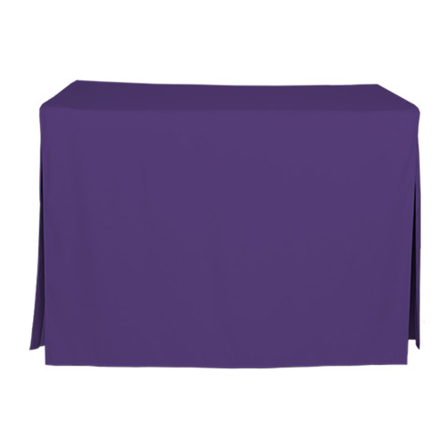 4-Foot Fitted Table Cover - Violet