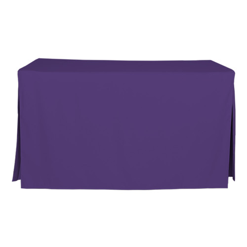 5-Foot Fitted Table Cover - Violet