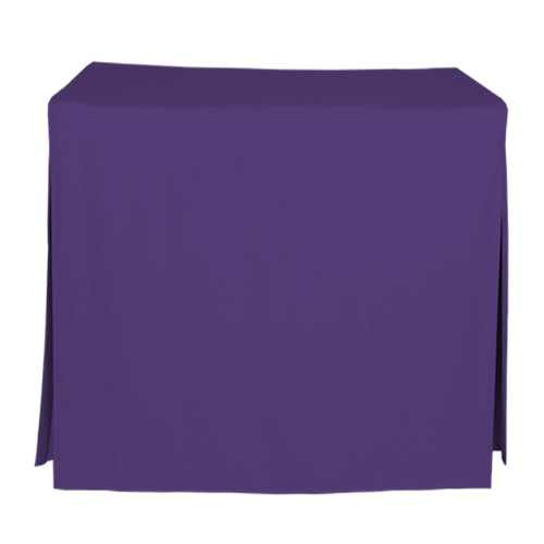34-Inch Fitted Table Cover - Violet