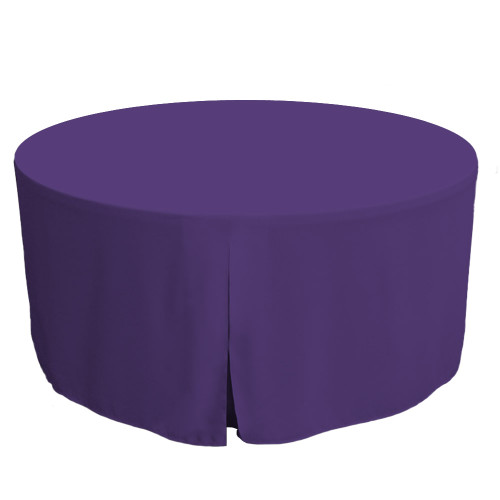 60-Inch Fitted Round Table Cover - Violet