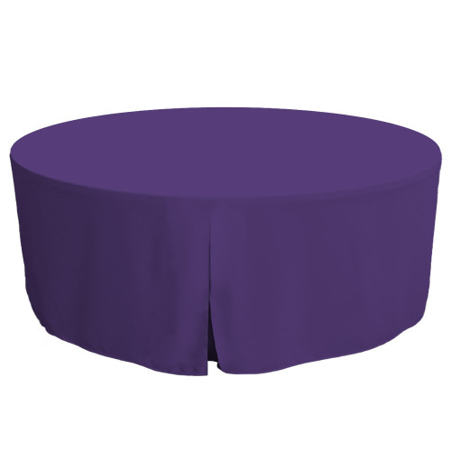 72-Inch Fitted Round Table Cover - Violet