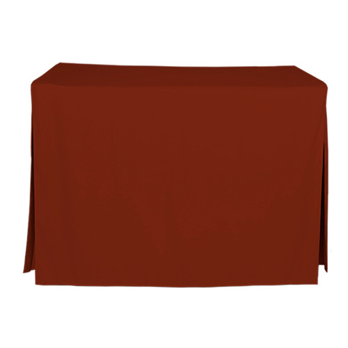 4-Foot Fitted Table Cover - Paprika