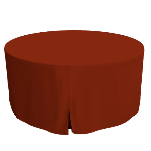 60-Inch Fitted Round Table Cover - Paprika