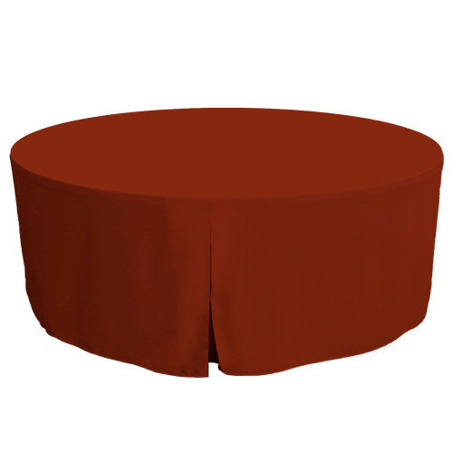 72-Inch Fitted Round Table Cover - Paprika