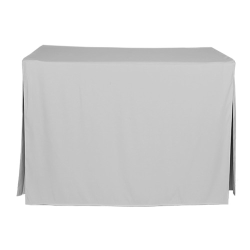 4-Foot Fitted Table Cover - Silver