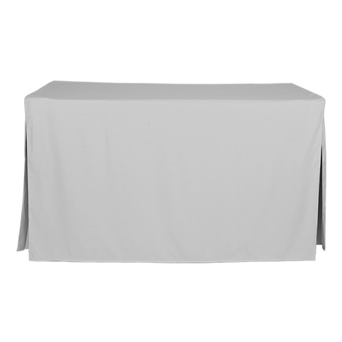 5-Foot Fitted Table Cover - Silver