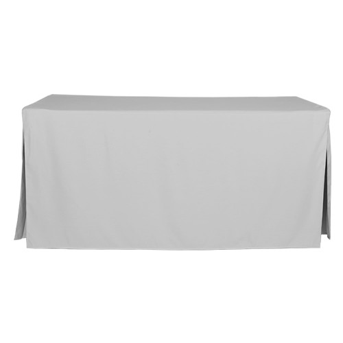 6-Foot Fitted Table Cover - Silver