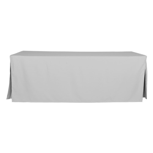 8-Foot Fitted Table Cover - Silver