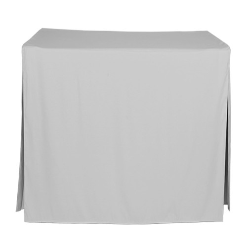 34-Inch Fitted Table Cover - Silver
