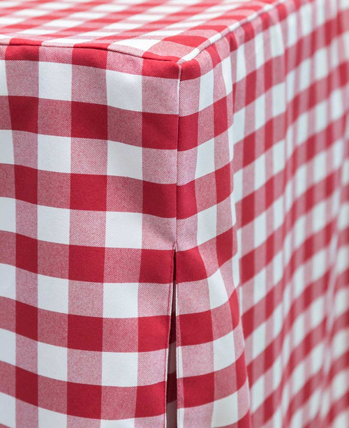 6-Foot Picnic Plaid Fitted Table Cover Red/White