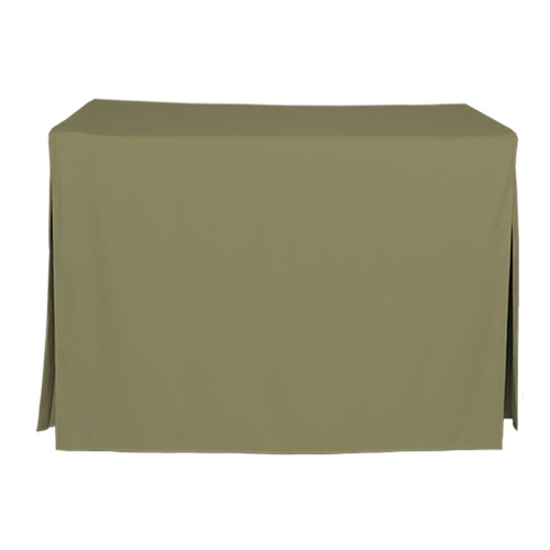 4-Foot Fitted Table Cover - Olive