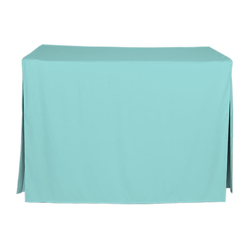 4-Foot Fitted Table Cover - Turquoise