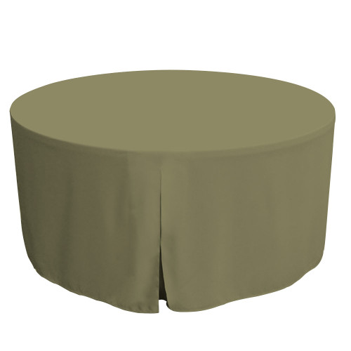 60-Inch Fitted Round Table Cover - Olive