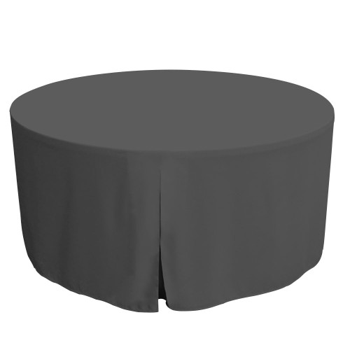 60-Inch Fitted Round Table Cover - Charcoal