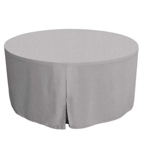60-Inch Fitted Round Table Cover - Black Chambray
