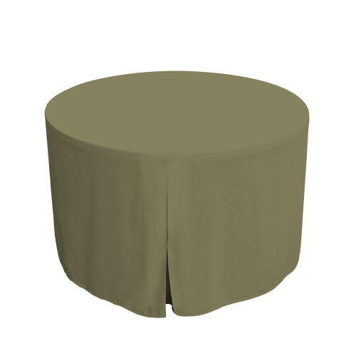 48-Inch Fitted Round Table Cover - Olive