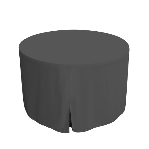 48-Inch Fitted Round Table Cover - Charcoal