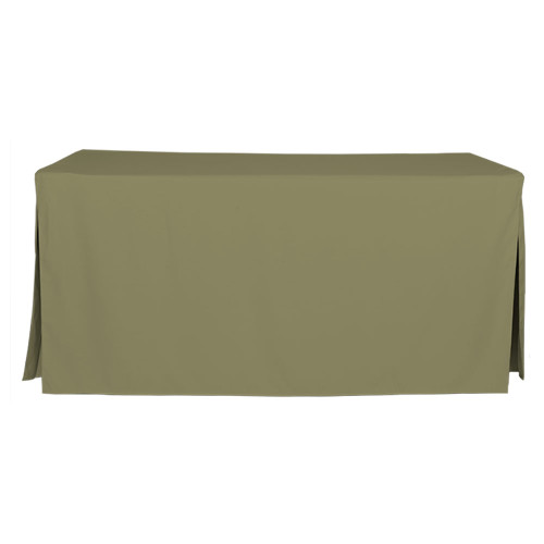 6-Foot Fitted Table Cover - Olive
