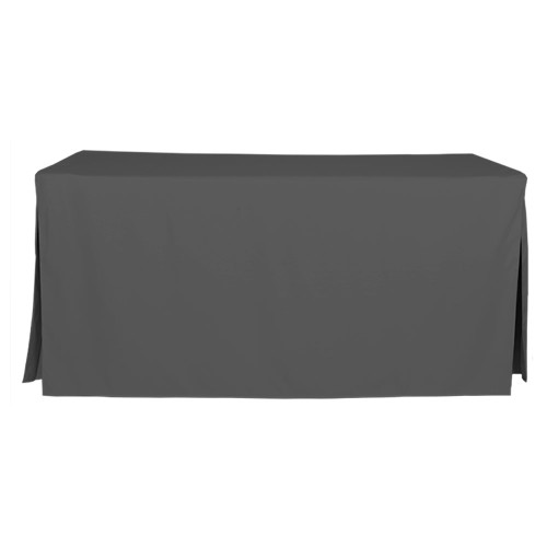 6-Foot Fitted Table Cover - Charcoal