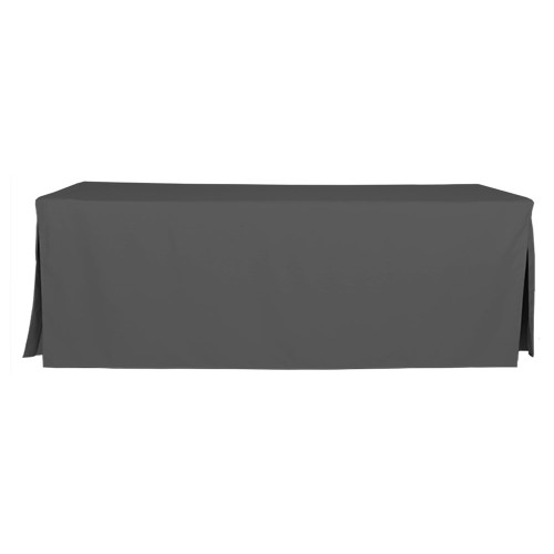 8-Foot Fitted Table Cover - Charcoal